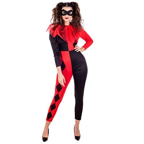 Fun Shack Rotes Harlequin Kostüm für Damen - Klein