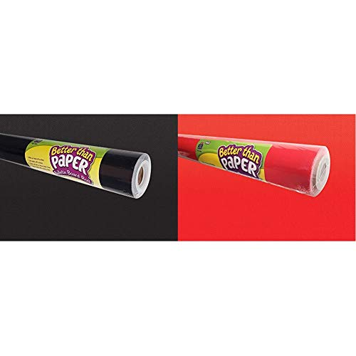 Teacher Created Resources Better Than Paper Bulletin Board Roll, Black - 77314 & Red Better Than Paper Bulletin Board Roll (TCR77886)