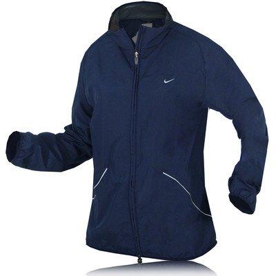 Nike Lady Microfibre Running Jacket - Large Blue