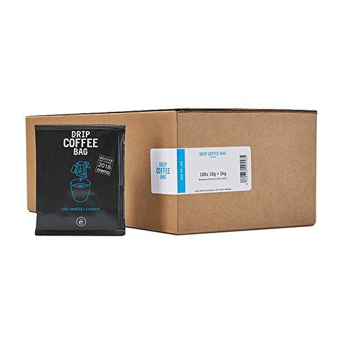 Filterkaffee - 100% Arabica Kaffee Vorratsbox - Filterbeutel mit gemahlenem Kaffee zum Selbstaufbrühen – Frisch gerösteter aroma Kaffee – Drip Coffee Bag ETHIOPIA, 100 Stück