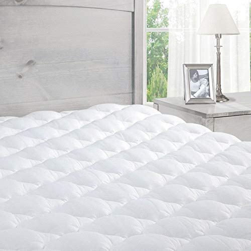 ExceptionalSheets Pillowtop Mattress Topper with Fitted Skirt - Extra Plush Mattress Pad Found in Marriott Hotels - Hypoallergenic - Made in The USA - California King