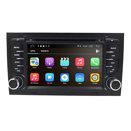 2 Din 7 pollici Android 10 Quad Core Car Stereo Moniceiver Ricevitore DVD per Audi A4 2002 - 2008 Supporto Navigazione GPS / Bluetooth / Volante Telecomando WiFi