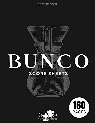 Bunco Score Sheets: Bunco Tally Sheets Dice Game Kit Party Supplies Paper Scorecards Pads Set Gifts Large Print | Volume 18