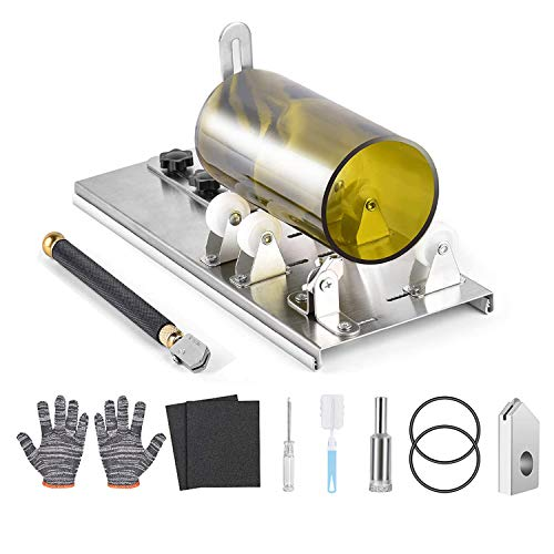 Joyiee Glass Bottle Cutter Bottle Cutter Latest Version DIY Machine for Cutting Wine Beer Whiskey Alcohol Champagne to Craft Glasses Accessories Tool