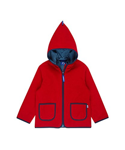 Finkid Tonttu red denim Kinder Zip In Fleece Jacke