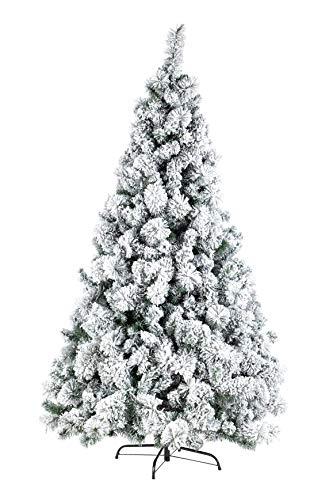BIZZOTTO Albero di Natale Innevato Realistico 210 cm Colore Verde con Neve Folto Artificiale con Supporto in Metallo e Aghi in PVC Cermis