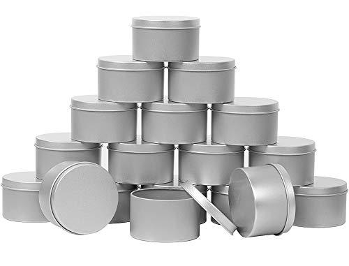 ZOENHOU 60 Stück 118 g Kerzendosen, runde leere Metalldosen mit Deckel, tragbare Metall-Aufbewahrungsdosen, nachfüllbare Gewürzbehälter für Geschenke, Kerzenherstellung, Partyzubehör, Balsam und Gele