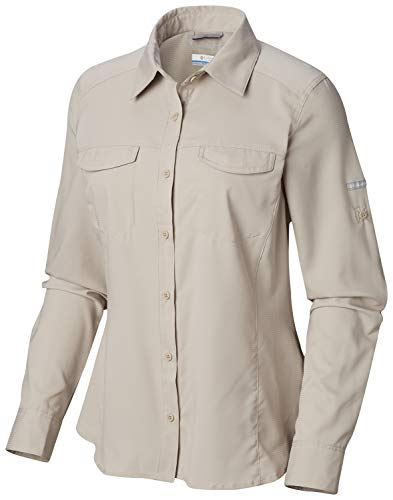 Columbia Women's Silver Ridge Lite Long Sleeve Shirt, Fossil, Medium