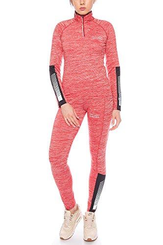 Rock Creek Damen Trainingsanzug Sportanzug Fitnessanzug Shirt Leggings [D-397 - Weinrot - XL]
