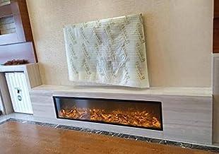 Chimeneas Eléctricas Insertar incorporado incorporado chimenea eléctrica calidad electrodomésticos sala de estar decoración de chimenea de calentamiento estufa (Length : 80cm)