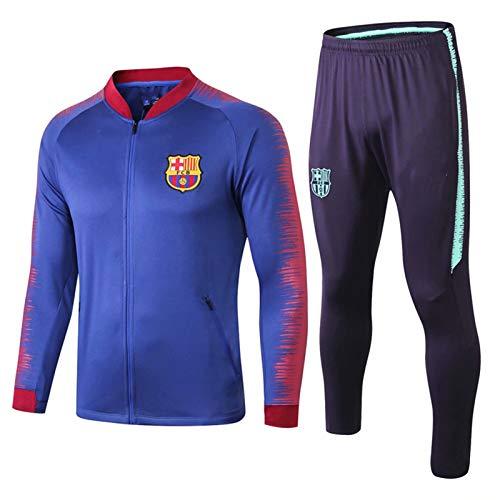 DIWEI 19 20 Spanien Fußball-Trainingsanzug, Barcelona Langarm-Trainings Jersey, Wettbewerb Anzug, Leichtathletik Anzug, Herren Jacke Hosen Sweatshirts 2 Stück Sets c-L