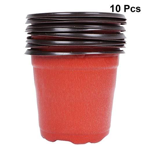YAYANG Flower Pot 10PCS Plante Pots de Fleurs en Plastique à Deux Tons Universal Doux Fleurs Nursery Graines Stockage Pots Container Jardin Décoration Practical
