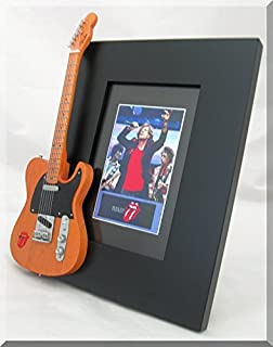 Rolling Stones Guitarra en miniatura Marco de fotos Mick & Keith