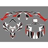 Antecedentes Gráficos de la Motocicleta de la Etiqueta y Etiqueta engomada Kit for Honda TRX 450R TRX450R Fourtrax ATV Motocross Pegatinas
