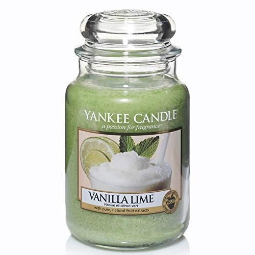 Yankee Candle Duftkerze im Glas (groß) | Vanilla Lime | Brenndauer bis zu 150 Stunden