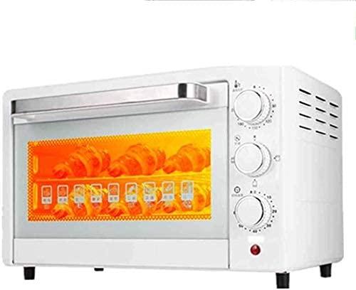 Horno 22L,Temperatura controlable 100-230 ℃ Calentamiento,Horno eléctrico Horno Tostador con Puerta Vidrio a Prueba explosiones (Color:Blanco)