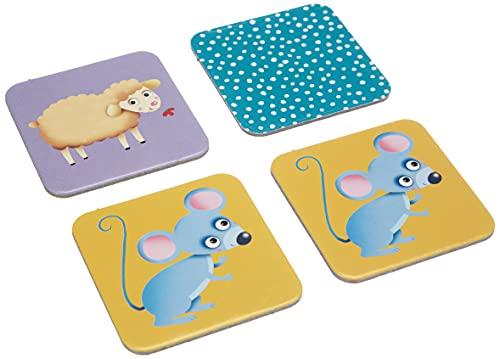 Lisciani - Carotina Baby Juego de memoria con animales - Juego educativo para niños de 1 á 4 años (80045)