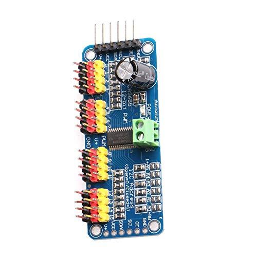 PWM Servomotor-Treiber 16 Kanal 12 Bit IIC I2C Interface PCA9685 Modul kompatibel mit Arduino Robot