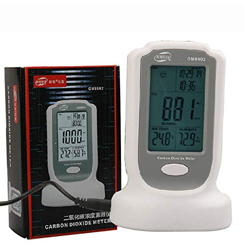 Clicke Tragbarer Handheld Luftdetektor Home Office CO2 Monitor CO2-Meter-Gasdetektor-Tester Intuitive Emoticons Zeigen Die Luftqualität