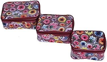 Kuber Industries Pink Multi purpose Make Up Kit Set of 3 Piece   (KI0021021)