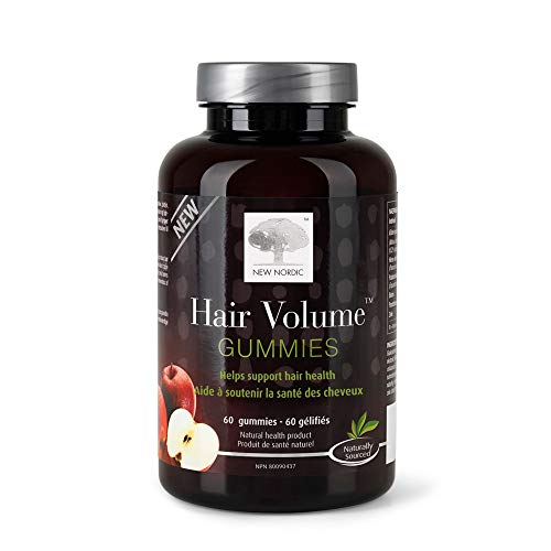 New Nordic Hair Volume Gummies | With Biotin for Healthy Hair Skin & Nails | Swedish Made | 60 Count