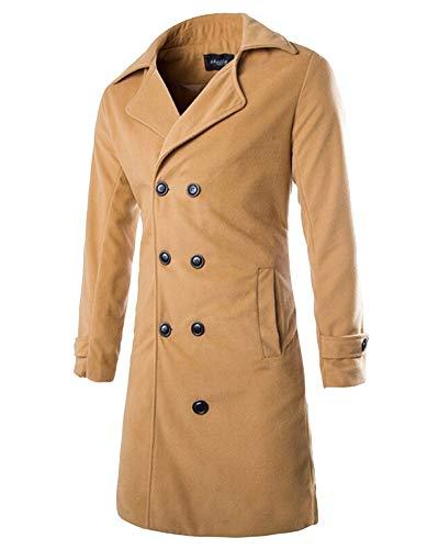 Willlly heren vrije tijd vintage dubbele windjack casual jas chic revers mantel lange outwear winter lange mouwen business slim fit trenchcoat outwear