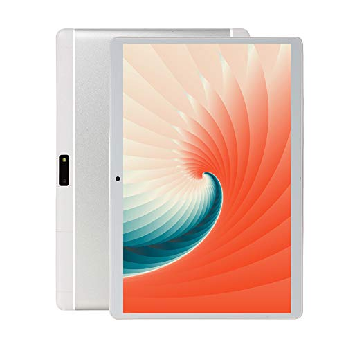 10-Zoll-Android-Tablet-PC, 5G-WLAN, 4 GB RAM, 64 GB ROM, Octa-Core-Prozessor, IPS HD-Display, 3G-entsperrte Dual-SIM-Kartensteckplätze, Bluetooth, GPS, UV3 (Silber)