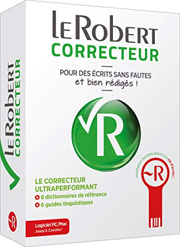 Le Robert Correcteur box - PC / Mac software 3 stations - spelling correction, dictionaries and French guides