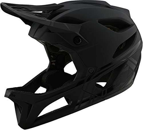 Troy Lee Designs Stage Stealth MIPS Casco Nero opaco