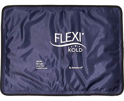 FlexiKold Bolsa Hielo Gel Frío (Tamaño Estándar: 36,8 cm x 26,5 cm) – Bolsa Gel Reutilizable Primeros Auxilios para Lesiones Deportivas Golpes Alivio del Dolor Terapia de Frío