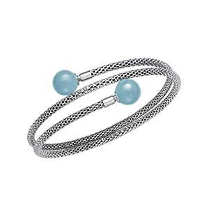 Sterling Silver Natural Aquamarine Gemstone Bracelet