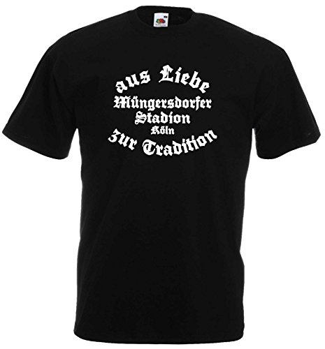 World-of-Shirt Herren T-Shirt Köln Müngersdorfer Stadion Liebe Tradition XL