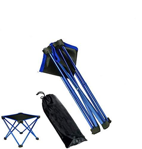 アウトドアチェア 折りたたみ椅子 超軽量 コンパクト キャンプ イス スツール アウトドア チェア 大人 子供 折り畳み 耐荷重約150kg アウトドア用品 お釣り 登山 運動会 収納袋付き 携帯便利 (ブルー)