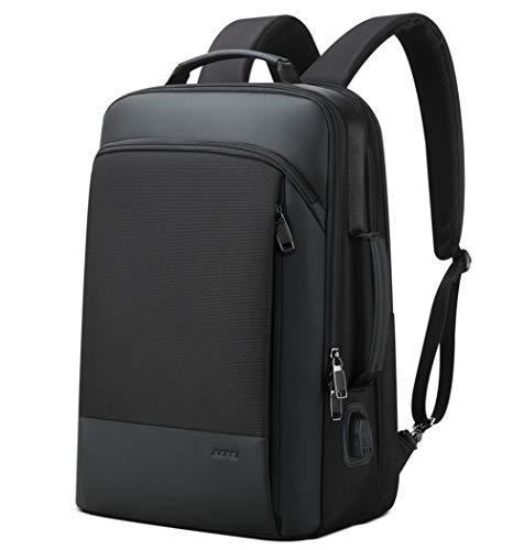 Business Laptop Backpack,Mochila para computadora portátil de 15.6 pulgadas para hombres Inteligentemente antirrobo con puerto de carga USB Mochila de aumento de capacidad computadora portátil Moch