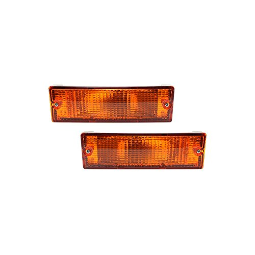 Evan-Fischer Turn Signal Light compatible with Mitsubishi Pickup 87-96 Set of 2 (RH and LH) Assembly Left and Right Side