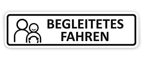 Auto-Magnetschild Begleitetes Fahren | Schild magnetisch | für Deutschland (BF-17) und Österreich (L-17) | Verschiedene Größen lieferbar (30 x 8 cm)