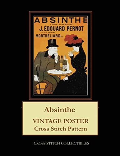 Absinthe: Vintage Poster Cross Stitch Pattern