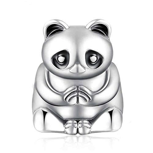 FeatherWish Yoga NaMaSte - Abalorio para pulsera Pandora, plata de ley 925, diseño de panda