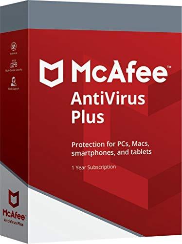 Descargue el código de activación para McAfee AntiVirus Plus 2020 | 10 Dispositivos | 1 año | Todos Windows 7, 8, 10, Android, Mac OS X e iOS – para Clientes nuevos y existentes Ignore el envío