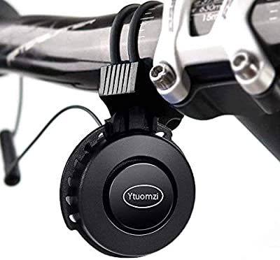 Ytuomzi Electric Bike Horn USB Rechargeable Bicycle Bell 120 db Invisible Cycling Alarm Loud Horn Waterproof 3 Modes Alert Ring for Mountain/Road Bike Scooters Handlebar 22-31.8mm (Black)