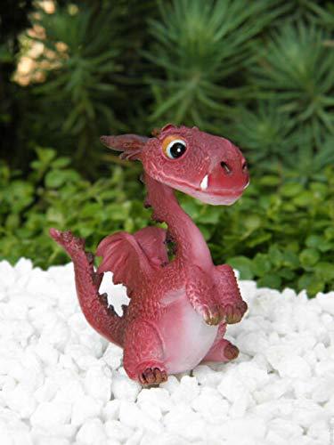 UNAMY ST Miniature Dollhouse Fairy Garden   Mini RED Dragon Cute Standing Figurine   Yard, Garden, Ornaments, Statues by UNAMY ST