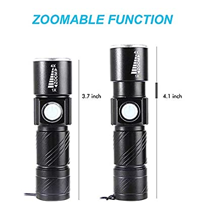 Mini UV Torch USB Rechargeable, BESTSUN LED Black Light Flashlight Ultraviolet Torches Zoomable 395nm Dog Cat Pet Urine Finder Stain Detector Light(Built in Rechargeable Battery) 5