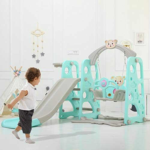 nobran Little Playhouse with Slide + Swing + Climbing Walls plastic play gym for little Children 3-9 years old for indoor and outdoor
