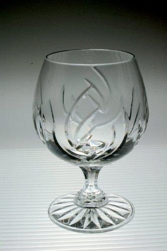 6 vasos de coñac de cristal al plomo TB brandy vasos