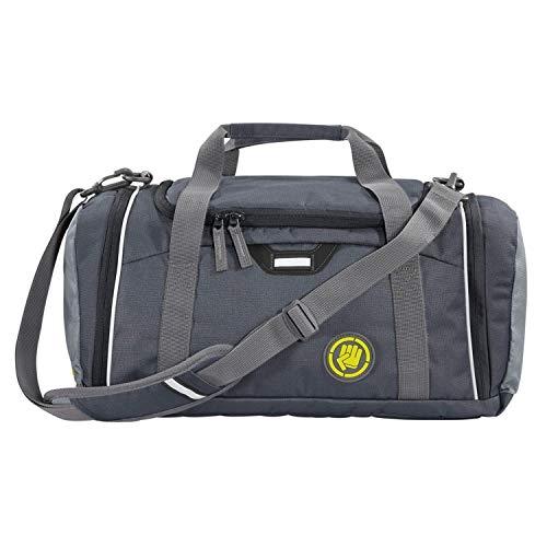 """Coocazoo Sporttasche SporterPorter """"Shadowman"""", grau, Nasswäschefach, Seitentasche, Schuhfach, Abnehmbarer, Verstellbarer Schultergurt, für Jungen ab der 5. Klasse, 20 Liter"""