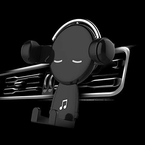 BDTLBJ Mr. Music - Soporte para teléfono móvil para coche (color: negro)