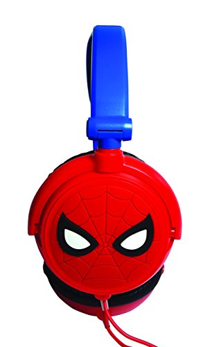 Spiderman Spiderman-HP010SP Auriculares Estéreo con Diadema Ajustable, Color Distintos, 20.4 x 16.8 x 7.3 cm (Giros HP010SP)