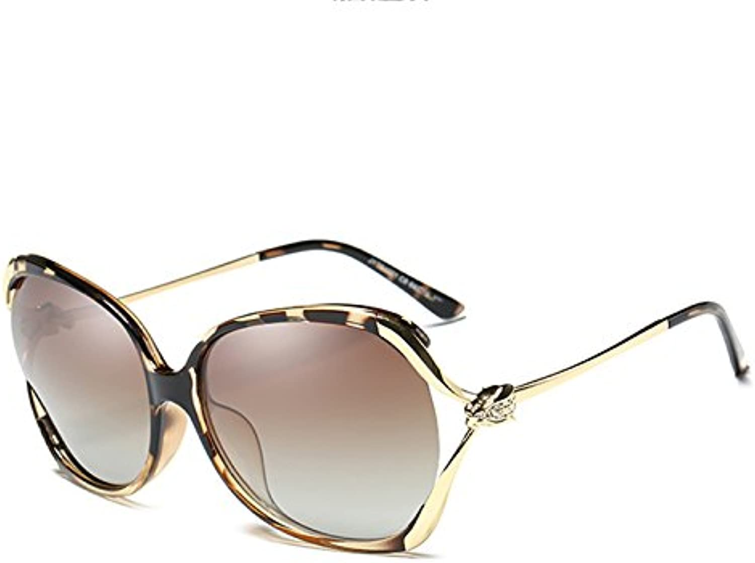 Moolo Sunglasses Women Polarized UV Frame Fashion Driving Round Face Hollow Diamonds Driving Sunglasses