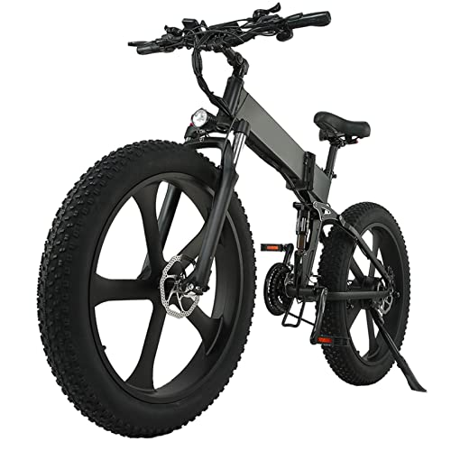 Liu Yu·casa creativa Bicicleta eléctrica 1000W 12.8Ah Bicicleta de montaña 26 Pulgadas Bicicleta eléctrica Plegable Bicicleta de Playa para la Nieve 26'4.0 Bicicleta eléctrica de neumático Gordo