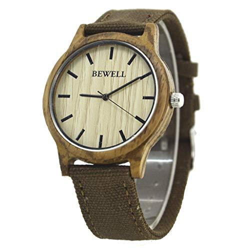 Leyue Hölzerne Uhr, personalisiertes Zebra-Holz-Leinwand-Quarz-Uhr, Business Casual romantisch, hell, gesund, natürlich und umweltfreundlich